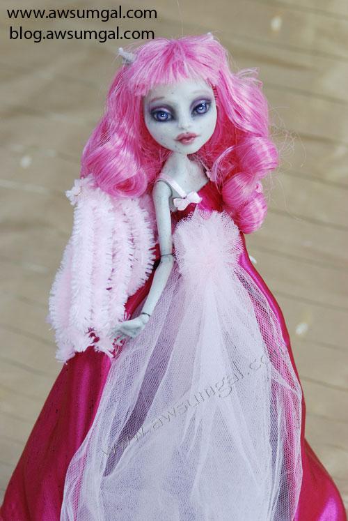 Kennedy OOAK Custom Monster High Rochelle Goyle Repaint Redress Doll